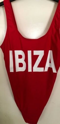 "BRIGHT RED /""IBIZA/"" SWIMMING COSTUME..BRAND NEW..SIZE 10-18...HOLIDAY//BEACH"