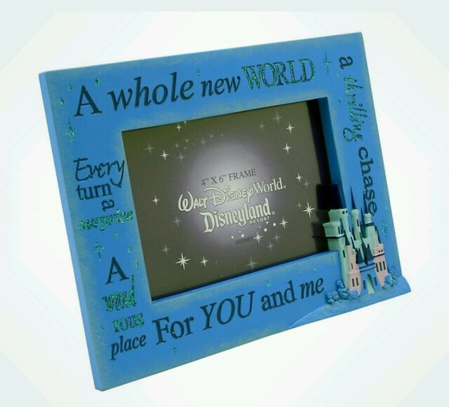 Disney Parks 4x6 Blue Sayings Whole World Castle Photo Picture Frame ...