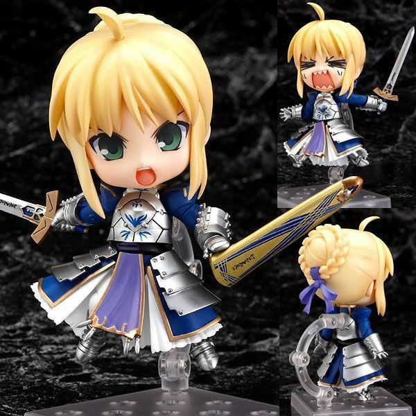 Fate/stay Night Anime Saber Movable  PVC Action Figure Toy Doll Model