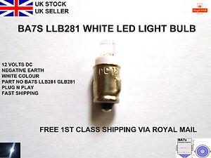 281-Ba7s-Led-Light-Bulbs-White-Car-Dash-Dials-Panel-Instrument-Gauges-Lamp-12v