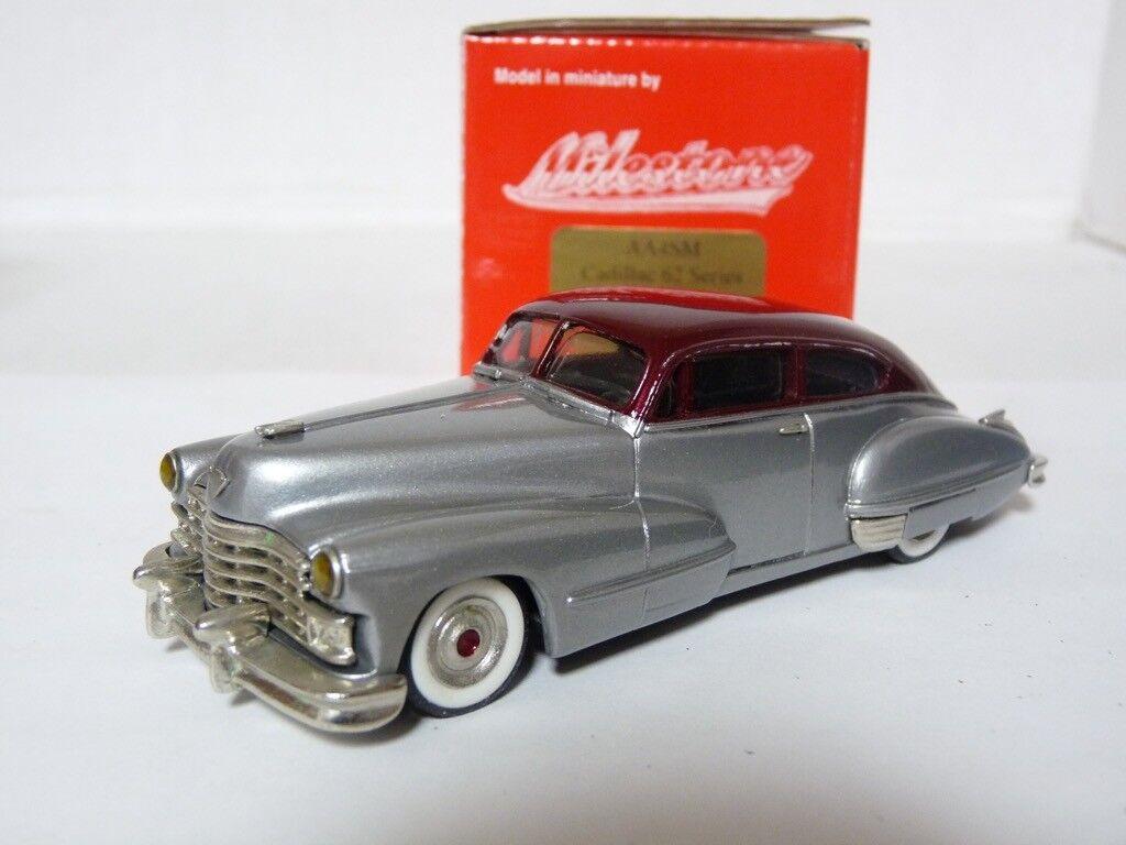 Milestone Avenue AA4SM 1 43 '47 Cadillac 62 Coupe Handmade Weiß Metal Model Car