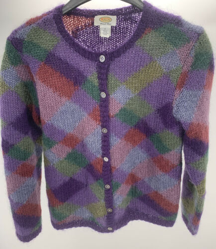 Talbot's Hand Knitted Mohair Button Up Cardigan Sw