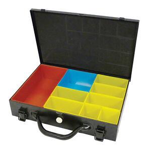 Image Is Loading Hrd Metal Storage Case 9 Trays Dual Locking