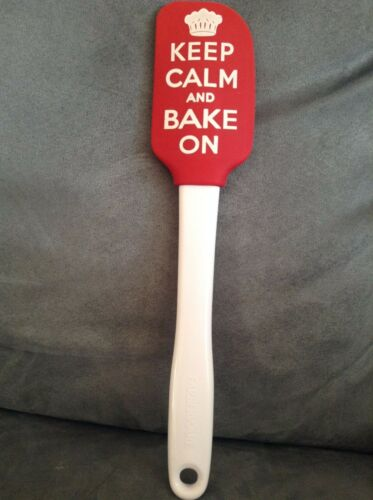 FARBERWARE COLOR SPATULA #5119132 RED KEEP CALM AND BAKE ON BRAND NEW