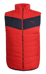 fe00b527c65a Puma ESS Mens Red Down Padded Vest Full Zip Gilet 833805 05 M11