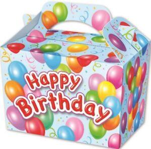 10-Blu-Buon-Compleanno-Scatole-Giocattolo-Bottino-Party-Bag-pranzo-di-nozze-Bambini-Cibo-Pasto