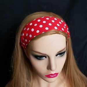 Paisley Polka Dot WIRED HEADBAND Rockabilly Retro Scarf for Girls Ladies /&Women
