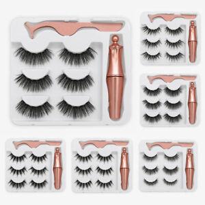 3PCS-Cils-Magnetiques-Liquide-Eyeliner-Gel-Faux-Parfait-3D-Cils-Naturels-F