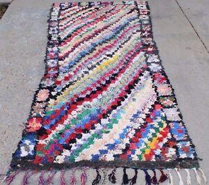 Image Is Loading Vintage Moroccan Boucherouite Rug A17handmade Berber Tribal