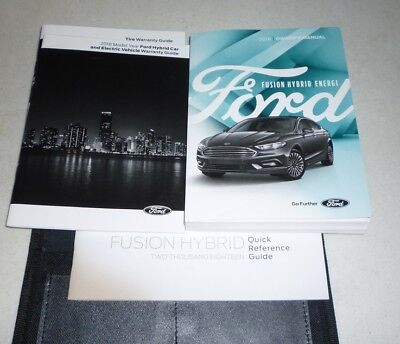 ford fusion hybrid energi owners manual guide set