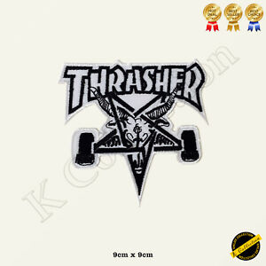 Thrasher Skategoat Embroidered Iron On/Sew On Patch/Badge For Clothes