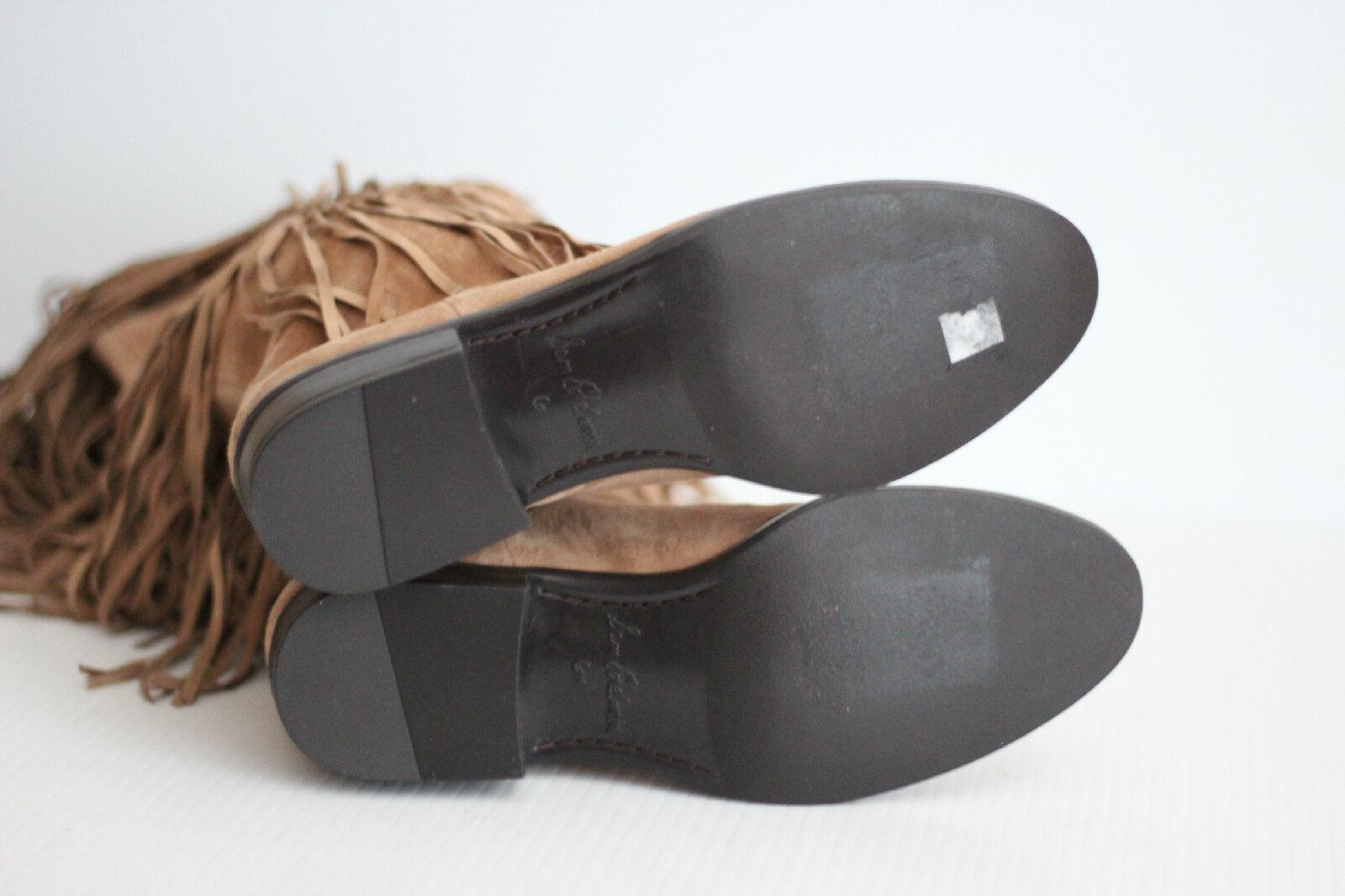 NEW Sam Edelman 'Pendra' Fringe Oatmeal Suede Western Boot - Oatmeal Fringe Tan Braun - 6M (X4) bead0a