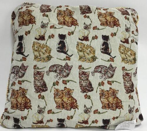 """18/""""x18/"""" également Rempli Coussin Les chats tapisserie housses de coussin en 5 fabuleux Designs"""