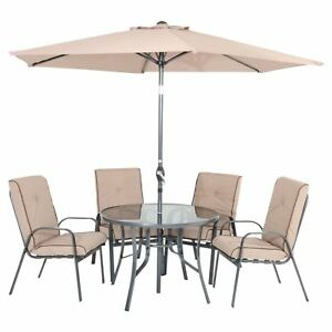 Image Is Loading Azuma Garden Dining Set Cadiz 6 Piece Round