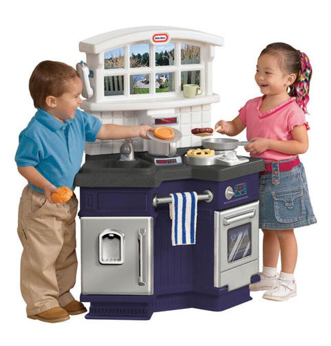 Küche Spielzeug Kinder für zwei mit sounds Ofen Kühlschrank und viele Zubehör