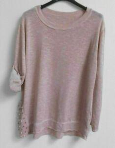 2f547281a55244 Das Bild wird geladen Italy-Moda-lockerer-Pulli-Pullover-36-40-rosa-