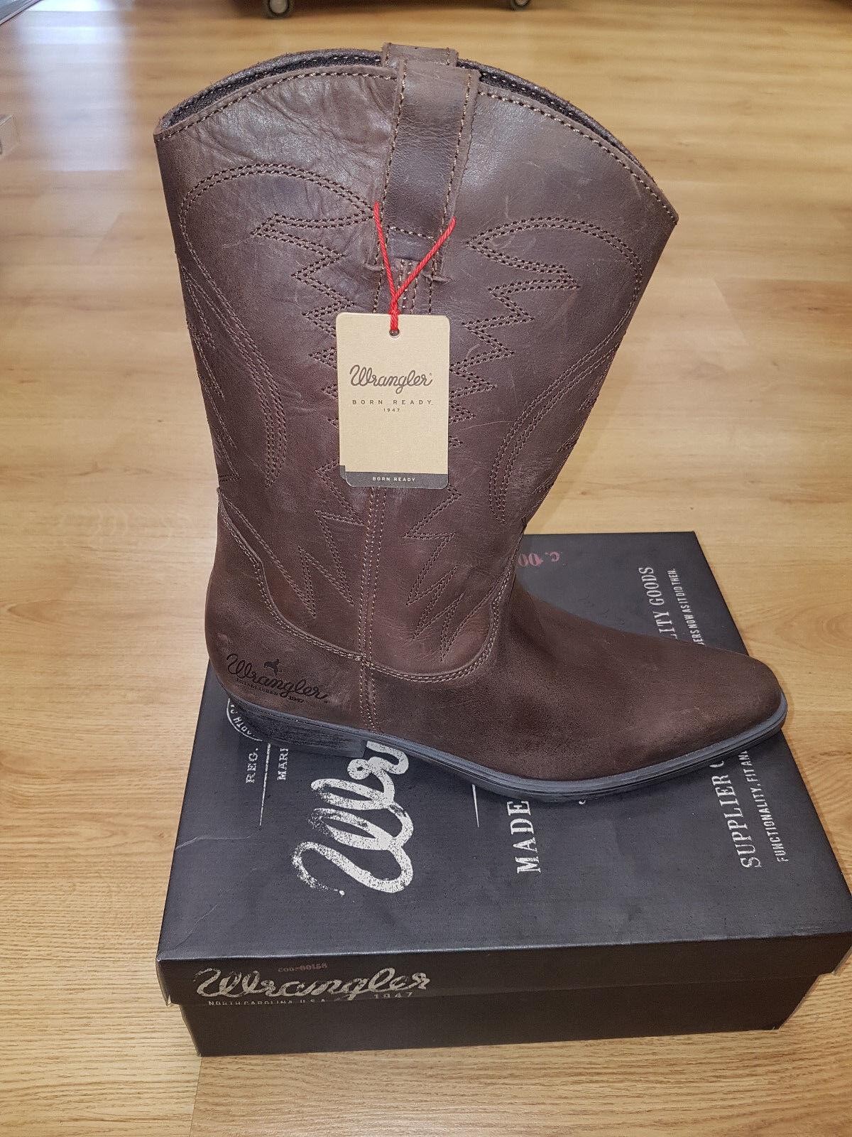 Men's Wrangler Tex Hi Dark Brown Cowboy Boots Sizes 7, 8 & 9
