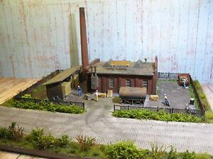 Maschinenfabrik-LED-Licht-Modelleisenbahn-Diorama-H0-1-87-87