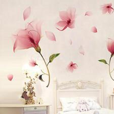 Rosa En Flor Flores Extraíble Adhesivos De Pared Pegatina Adhesiva Vinilo