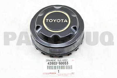 4260360053 Genuine Toyota ORNAMENT SUB-ASSY WHEEL HUB FOR REAR 42603-60053