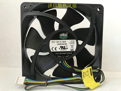 1pcs CoolerMaster A12025-12CB-3BN-F1 12V 0.16A 12CM Silent Chassis Fan 3pin