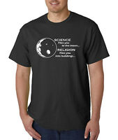 Science Flies You To The Moon Religion Into Buildings T-Shirt - Atheist Agnostic