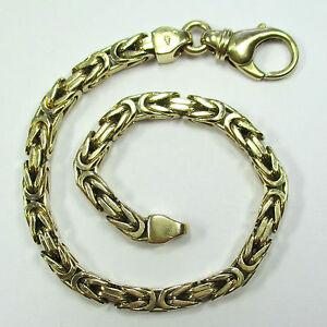 391-20-cm-langes-Armband-Koengiskette-585-Gelbgold-26-Gramm