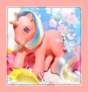My-Little-Pony-MLP-G1-Vtg-1985-Twinkle-Eyed-Unicorn-SPEEDY-amp-Original-Comb