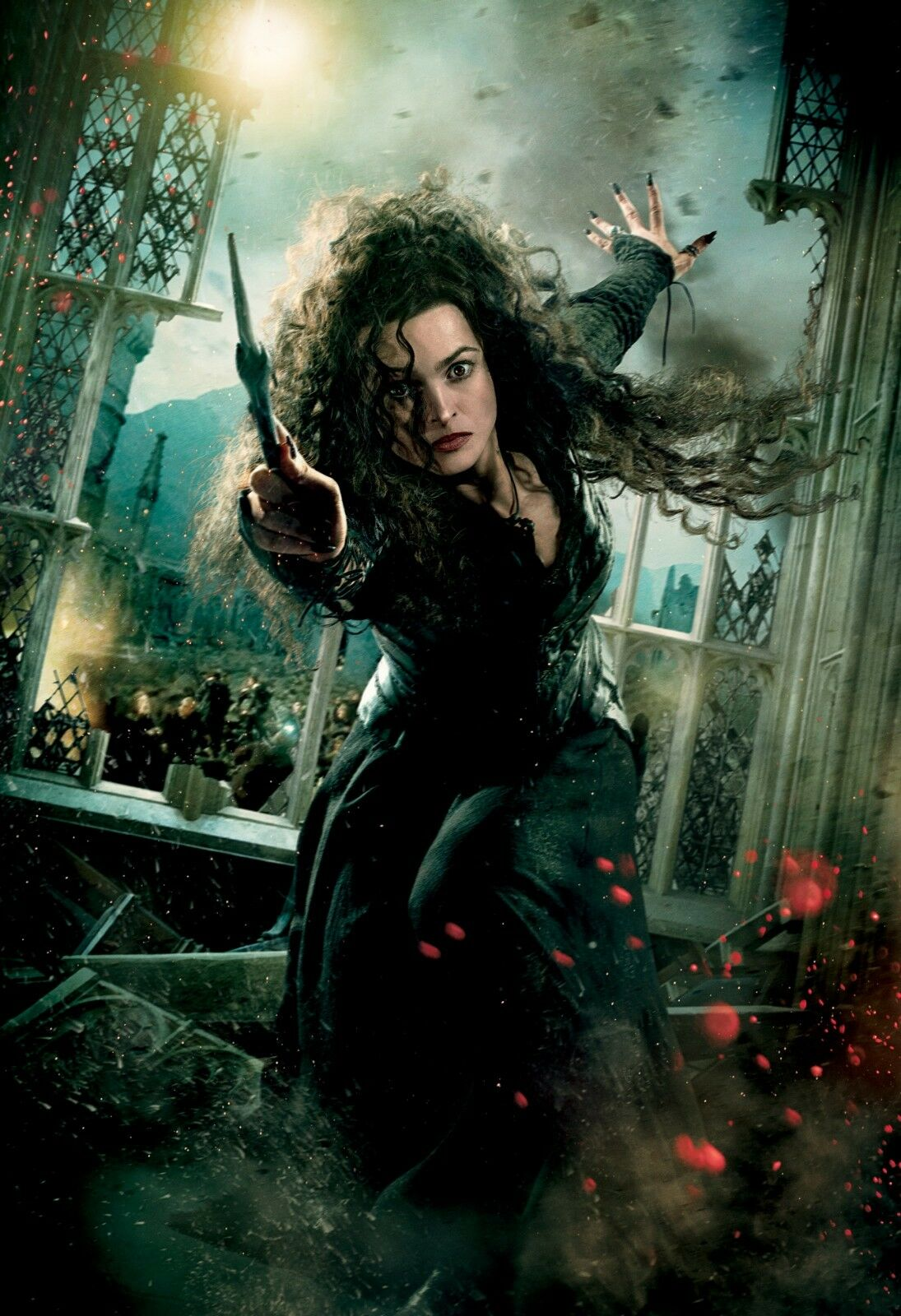 Harry Potter - Bellatrix Lestrange Dark Witch Wall Art Framed Canvas Pictures