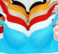 Pack of 6 pcs Underwire Plain Full Cover Bras Lot 32A New BR9842 Size: 32A