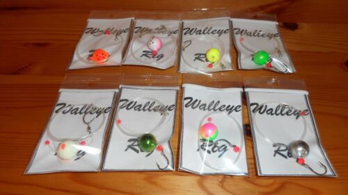 8 Live Bait Float Rigs For Walleye Bass Fishing Perfect Rig for Minnow Size 4