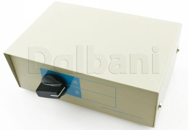 95-3060 Manual Switch Box DB15 Heavy Duty / Mini 6 DIN, PS/2 2 way DW-HD156AB