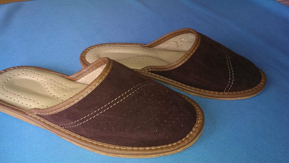 - Hommes Pantoufles Mule Pantoufles Pour Hommes Pour Garçons Cuir Naturel Chaussures