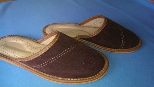 MENS SLIPPERS mule slippers FOR MEN for BOYS    NATURAL LEATHER  shoes