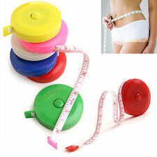 """Retractable Body Measuring Ruler Sewing Cloth Tailor Tape Measure Soft 60"""" 1.5M"""