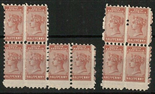 56838 SOUTH AUSTRALIA Stanley Gibbons # 182 MNH x 10 with PERFORATION ERROR