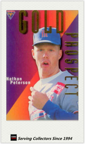 1996 Futera Australia Baseball Card ABL Gold Prospects Card GP6 Nathan Peterson