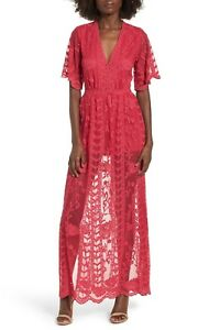 b61c44850433 Image is loading SOCIALITE-Fuchsia-Pink-Lace-Scalloped-Overlay-Romper -Fashion-