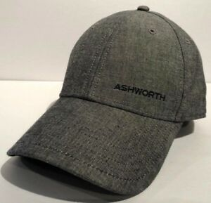 7337dac3b85 Image is loading Ashworth-Golf-Adjustable-Unisex-Hat-Cap-Grey-Dad-