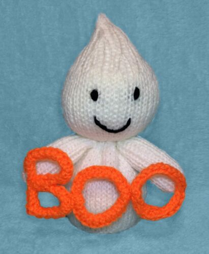 Boo the Ghost chocolate orange cover 17 cms Halloween toy KNITTING PATTERN
