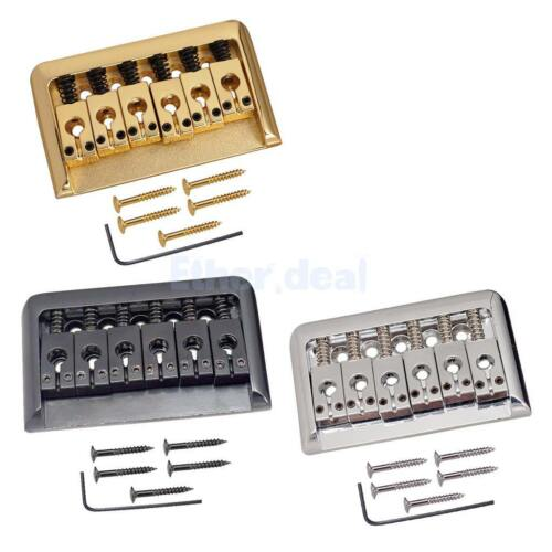 Gitarren Sattel Steg Saitenhalter für 6 Saiten E-Gitarren Teile Gold