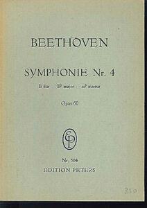 Beethoven-Symphony-No-4-B-Dur-Op-60-Studienpartitur