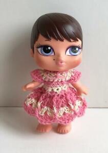 Clothes-for-4-5-034-Bratz-Babies-Outfit-Dress-Handmade-USA-Lot-BB-5-Pink-Crochet