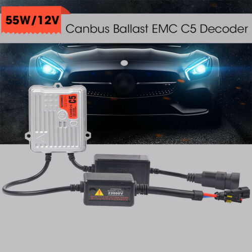 55W HID Ballast Slim Xenon AC Ballasts Replacement Universal For Headlight Bulbs