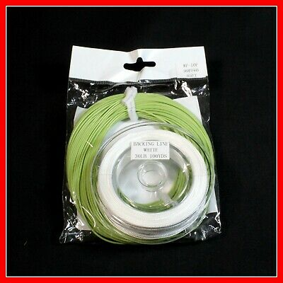FLY LINE 7 wt WF7F Weight Forward Floating Free 30 lbs Backing Moss Green