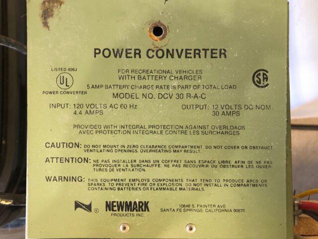 Diagram Newmark 30 Amp Rv Power Converter Battery Charger Dcv 30