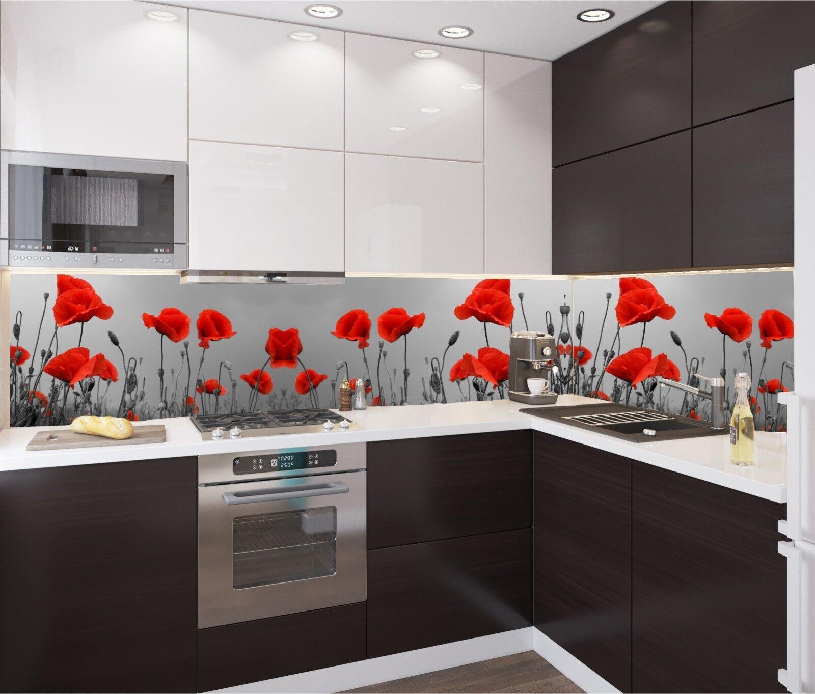 Küchenrückwand SP354 MohnBlaume Spritzschutz Fliesenspiegel nach Maß Acrylglas