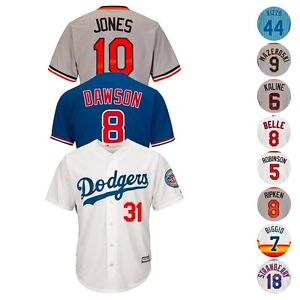 MLB-Majestic-HOF-amp-Retired-Players-Cooperstown-amp-Current-Cool-Base-Jersey-Men-039-s