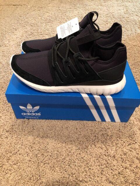 Adidas Originals Tubular Radial Black White Running Shoes Size 10.5 Men's AQ6723