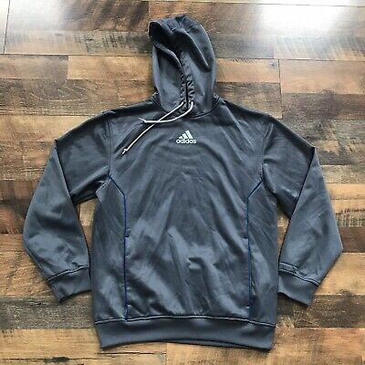 Adidas Mens Full Zip Hoodie Spell Out Hooded Sweatshirt Gray Brand New Athletic